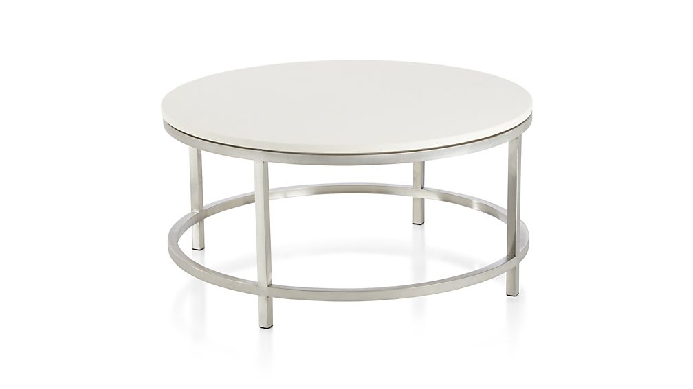 Era Limestone Round Coffee Table