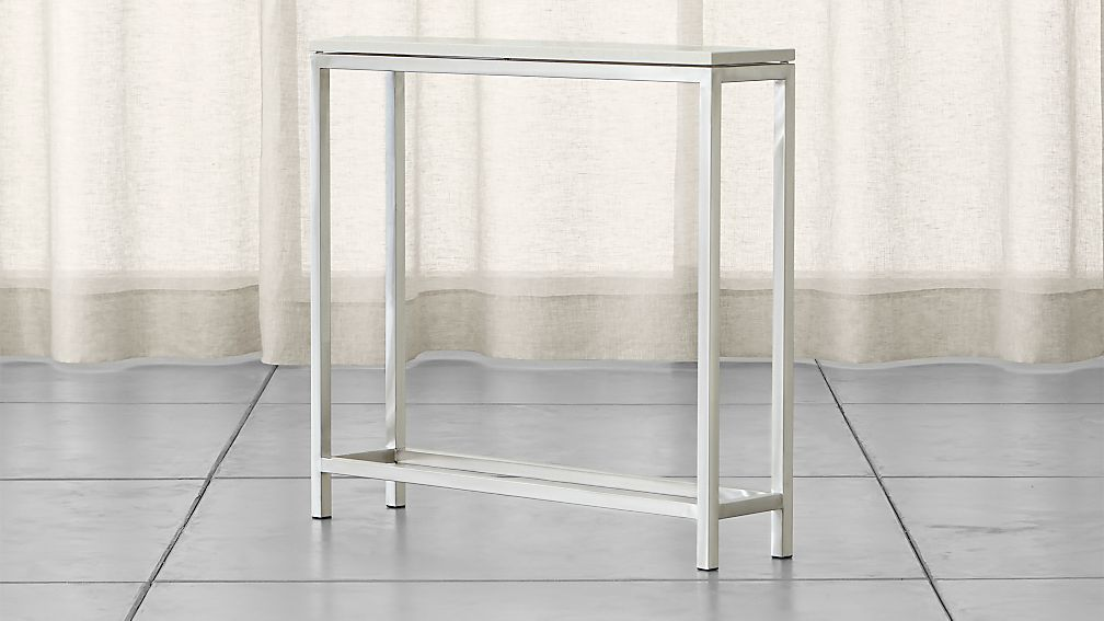 Era Limestone Console Table Reviews Crate And Barrel