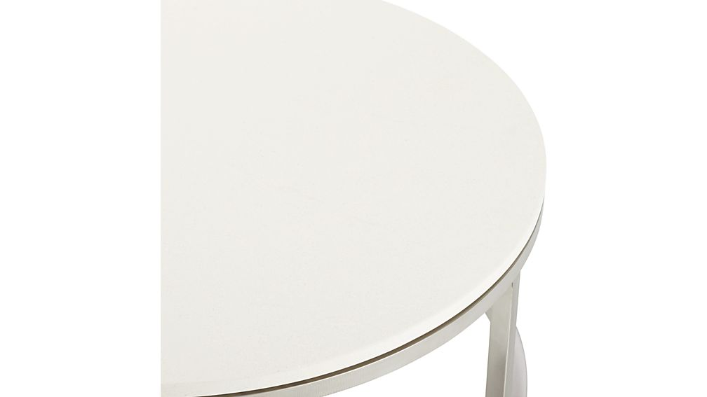 Era Limestone Round Coffee Table