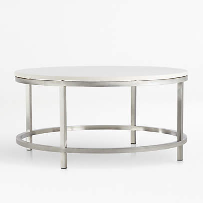 Era Limestone Round Coffee Table Reviews Crate And Barrel