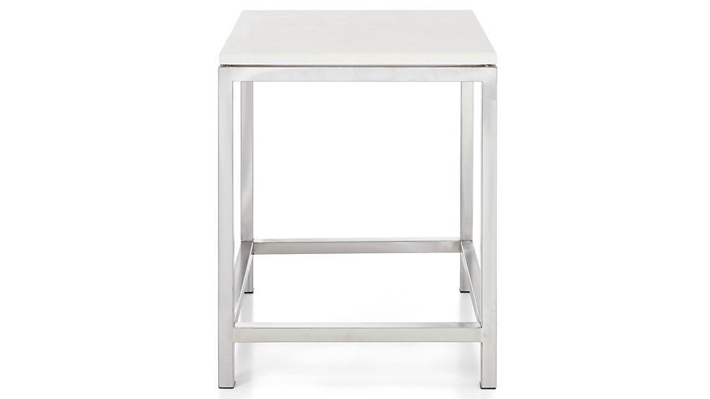 Era Limestone Square Side Table