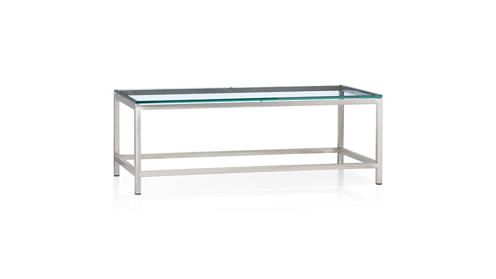 ... Era Rectangular Glass Coffee Table ... - Era Rectangular Glass Coffee Table Crate And Barrel