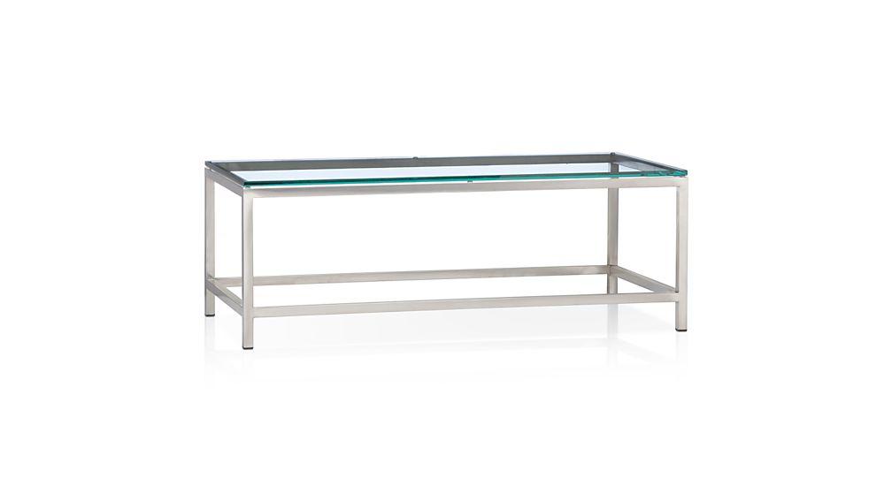 Era Rectangular Glass Coffee Table Crate and Barrel