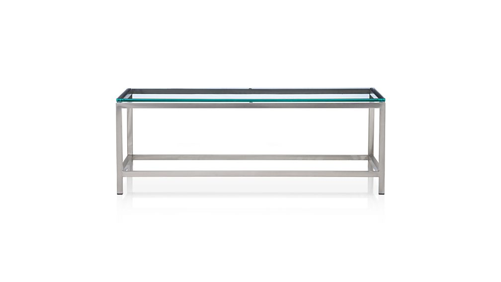 ... Era Rectangular Glass Coffee Table - Era Rectangular Glass Coffee Table Crate And Barrel