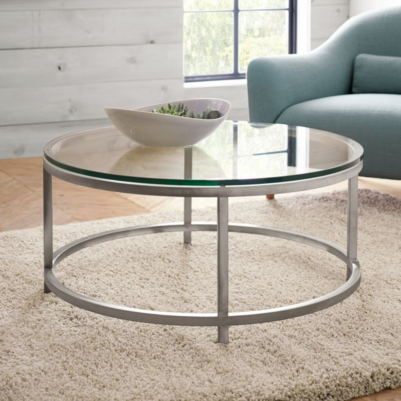 Era Round Glass Coffee Table Reviews Crate and Barrel