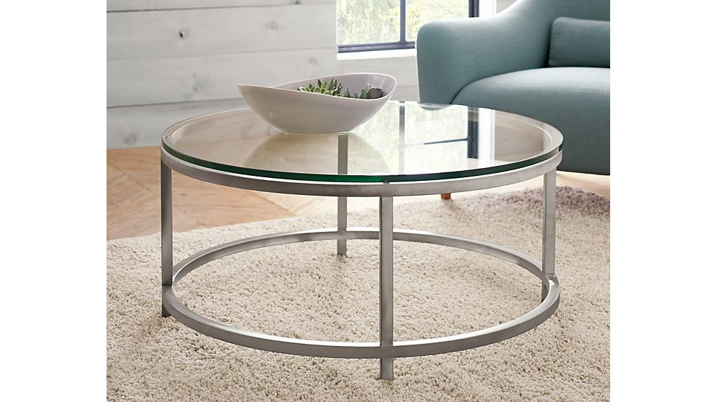 Era Round Glass Coffee TableCrate and Barrel