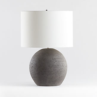 Esphera Grey Round Table Lamp