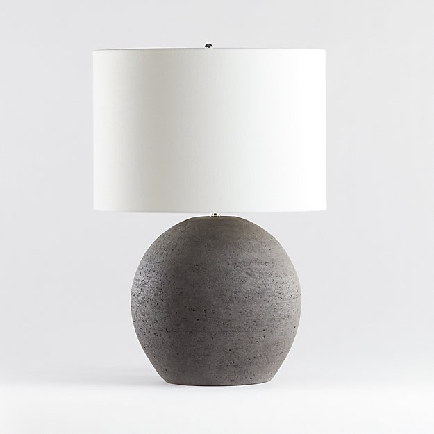 Esphera Grey Round Table Lamp - Image 1 of 5