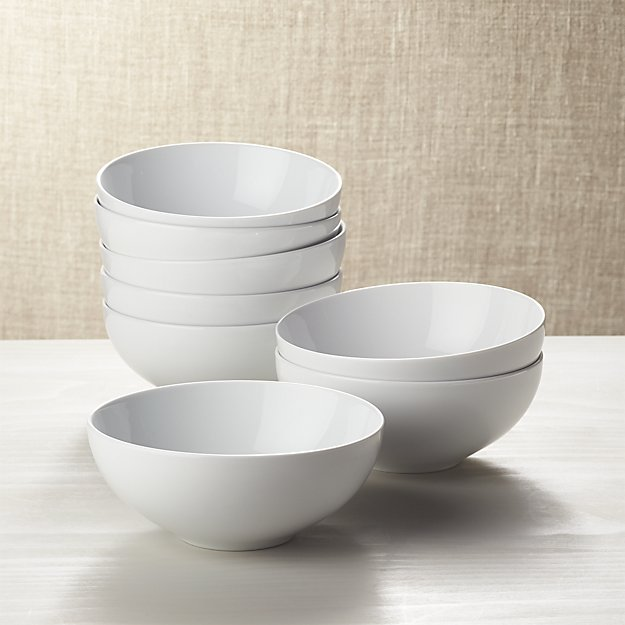 Set Of 8 Essential Bowls Reviews Crate And Barrel