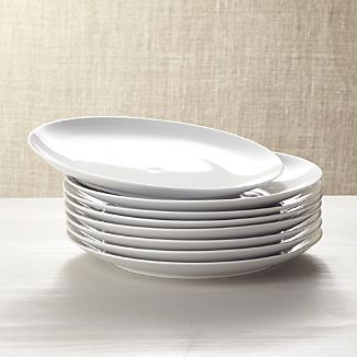 Set of 8 Essential Dinner Plates Add to Favorites & White Plate Sets | Crate and Barrel