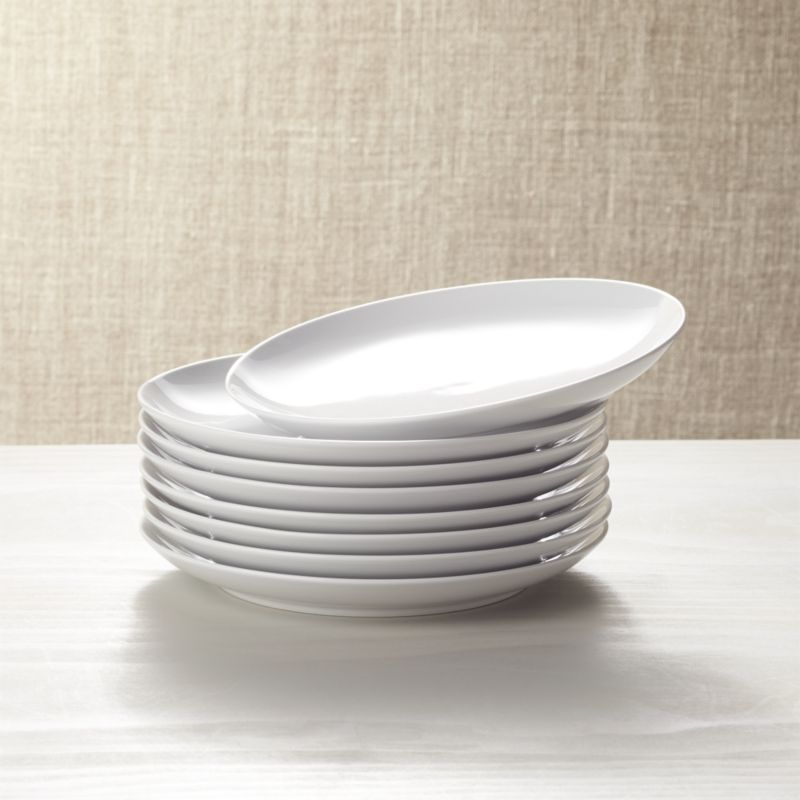 Set Of 8 Essential Salad Plates Reviews Crate And Barrel