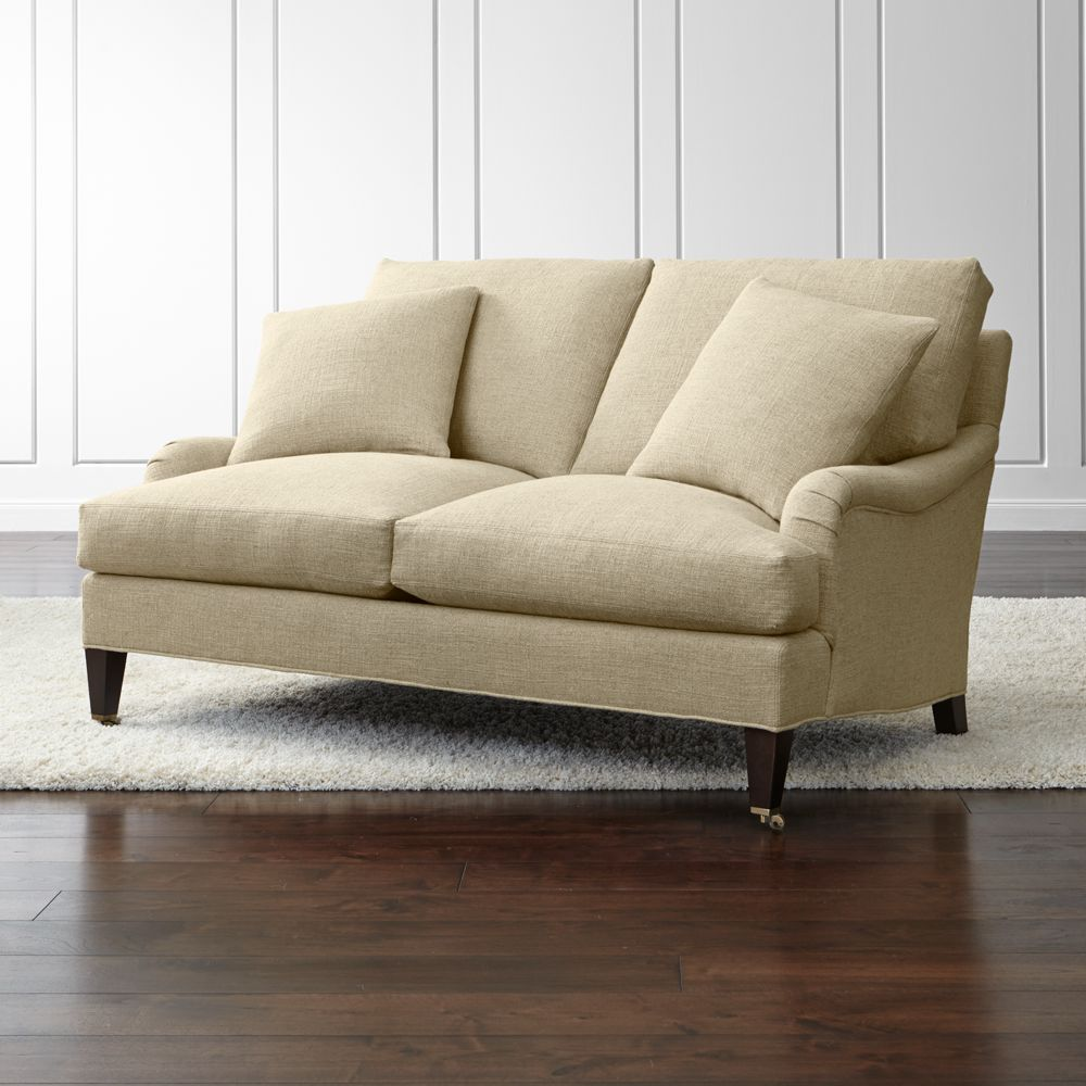 Essex Loveseat with Casters - Crate and Barrel