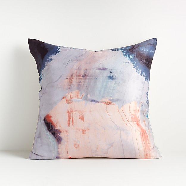 """Estela Brushstroke Pillow 18"""" - Image 1 of 7"""