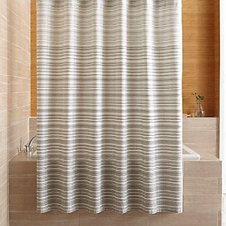 Estie Grey Print Shower Curtain