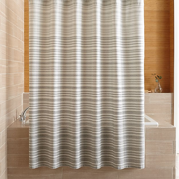 Estie Grey Print Shower Curtain Reviews