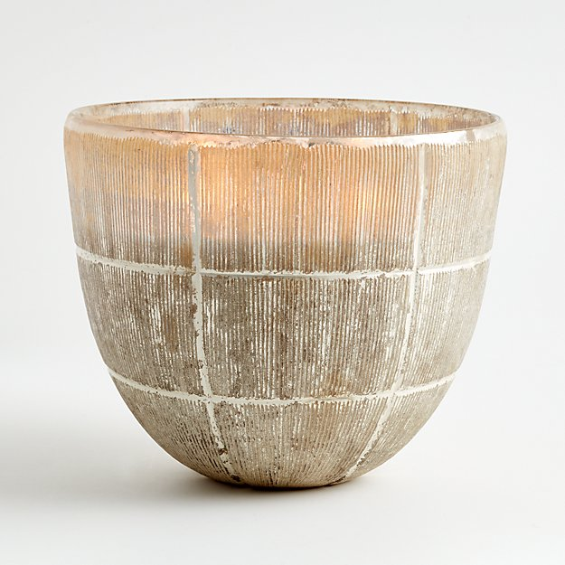 Etched Silver Candle Pot - Image 1 of 2