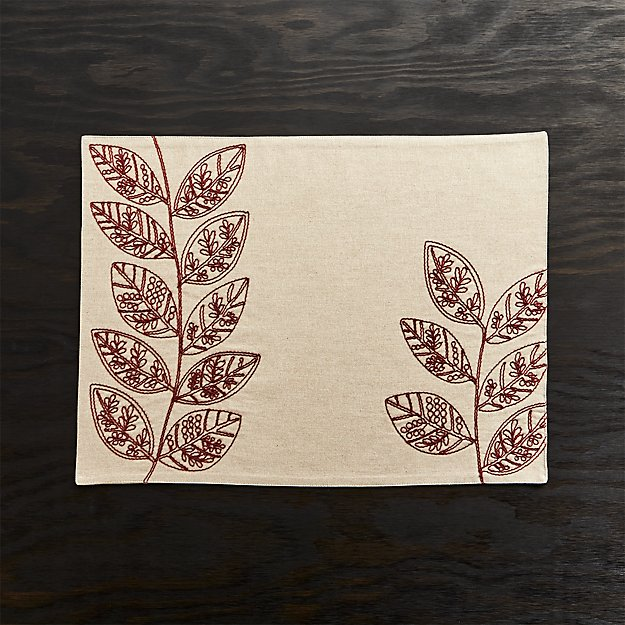 Etta Embroidered Placemat