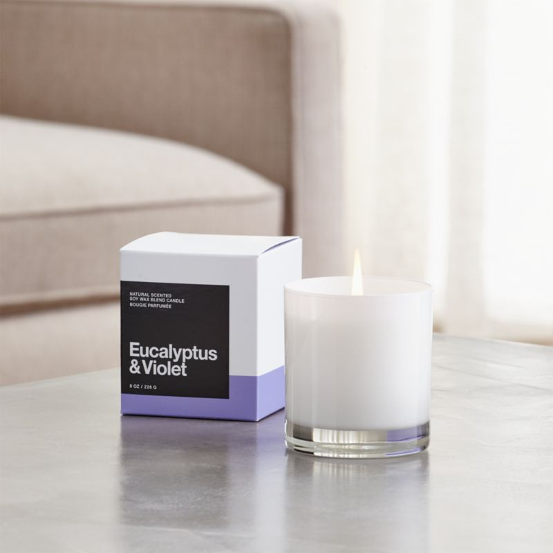 Eucalyptus and Violet Scented Candle