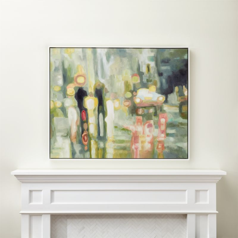 Abstract City Painting Reviews Crate And Barrel