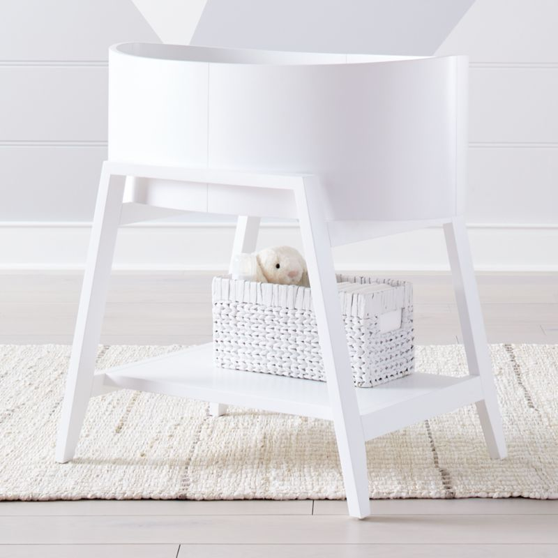 Ever Simple White Bassinet by Crate&Barrel