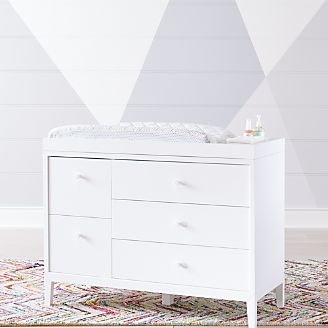 Ever Simple White Changing Table Topper