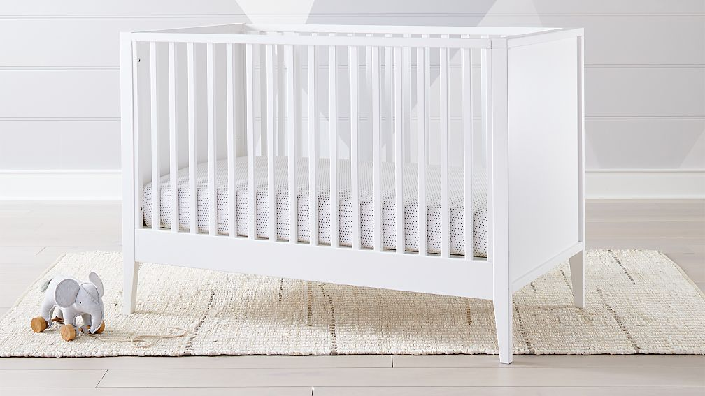Very Ever Simple White Crib + Reviews | Crate and Barrel ML78