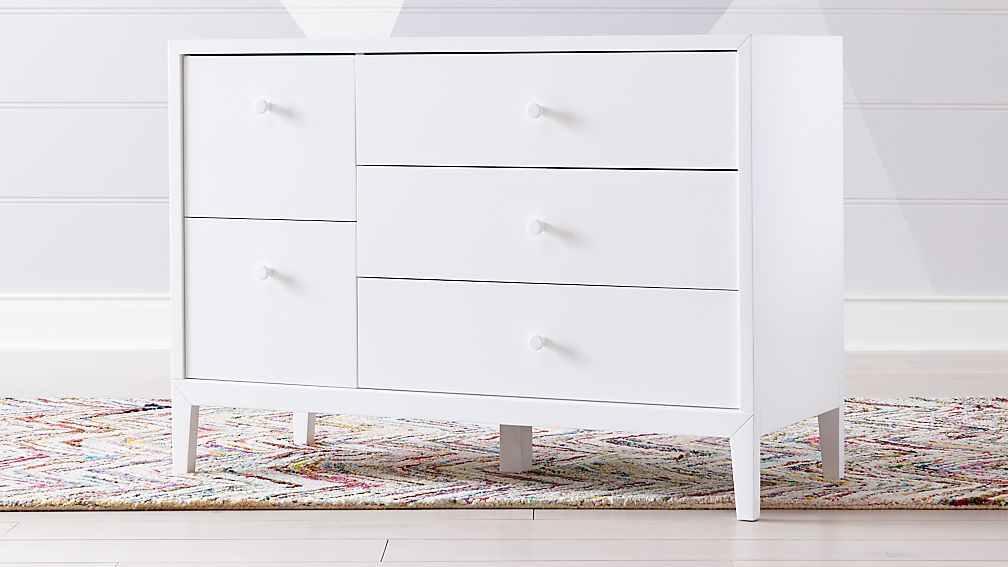 Kids Ever Simple White Wide Dresser - Image 1 of 9