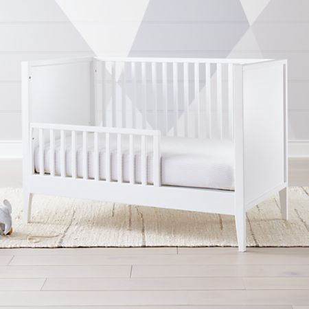 Ever Simple White Toddler Rail   Crate and Barrel on