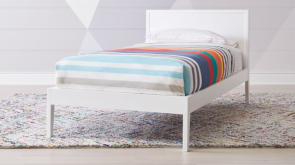 Ever Simple White Twin Bed Reviews Crate And Barrel