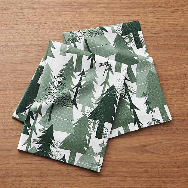 Evergreen Forest Dish Towels, Set of 2