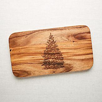 Evergreen Tree Wood Serving Board