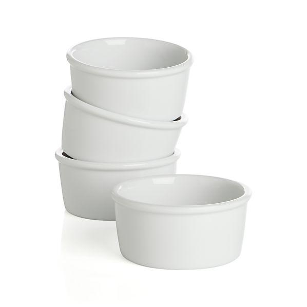 "Set of 4 Every 3.5"" Ramekin Bowls"