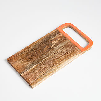 Evie Wood/Enamel Serving Board