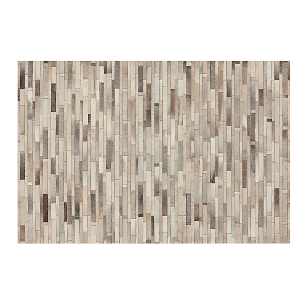 Ewing Striped Cowhide Rug 6 X9 Crate And Barrel