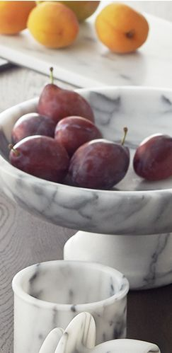 Marble Serveware with Fruit
