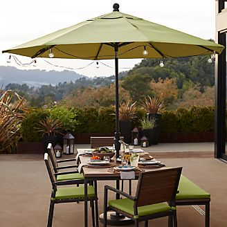Outdoor lighting string lights and lanterns crate and barrel patio umbrella globe led string lights workwithnaturefo