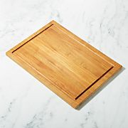 FSC Teak Large Rectangular Cutting Board with Well