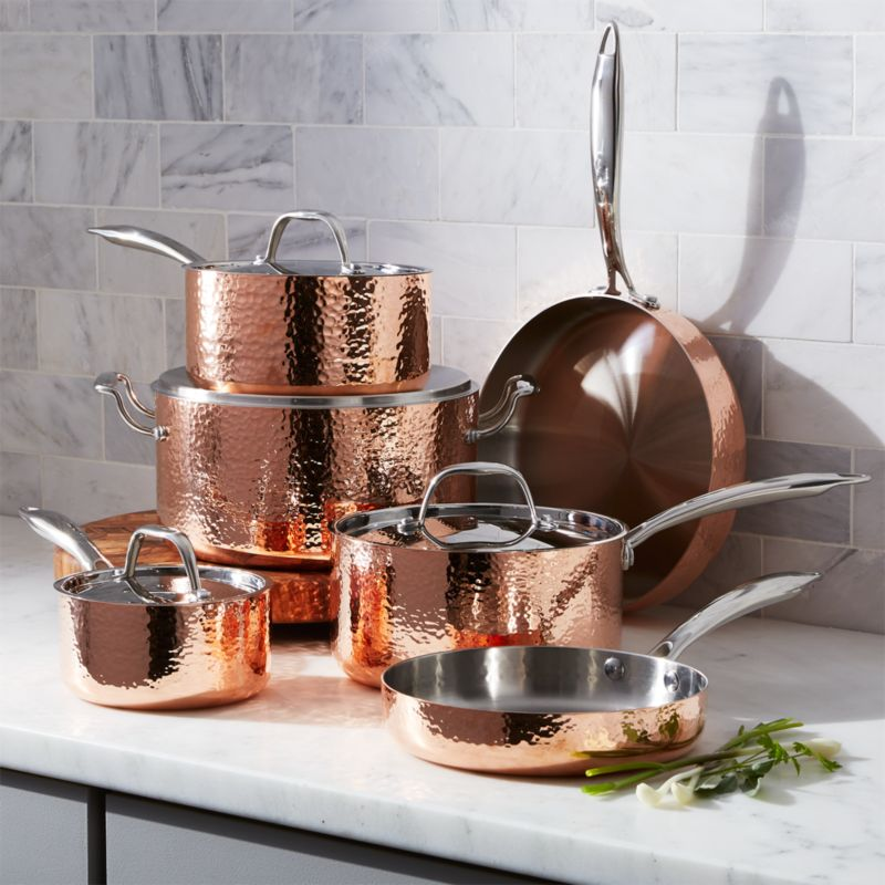 Fleischer And Wolf Seville Hammered Copper 10 Piece