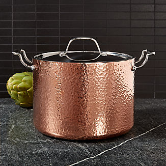 Fleischer and Wolf Seville Hammered Copper 8-Qt. Stockpot