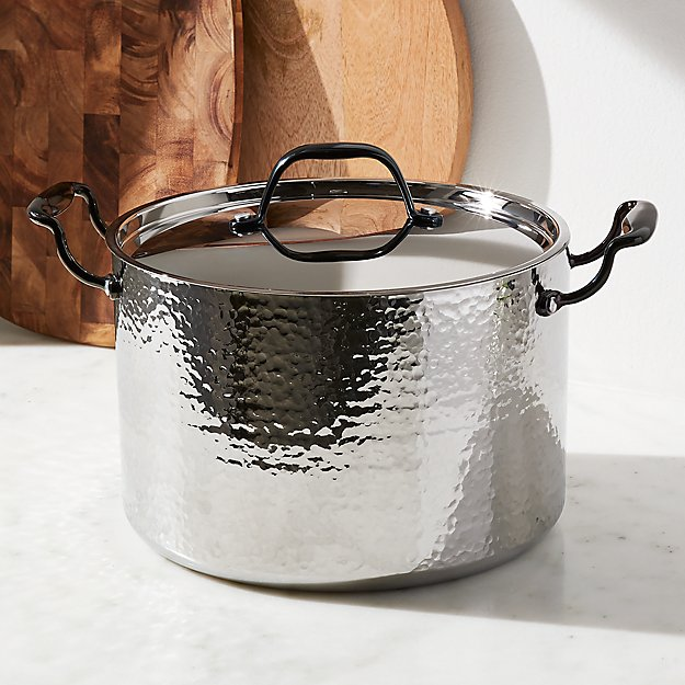 Fleischer and Wolf Seville Hammered Stainless Steel 8-Qt. Stockpot - Image 1 of 2