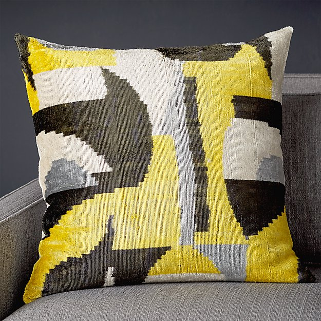 "Fabia Silk Velvet Pillow 23"" - Image 1 of 7"