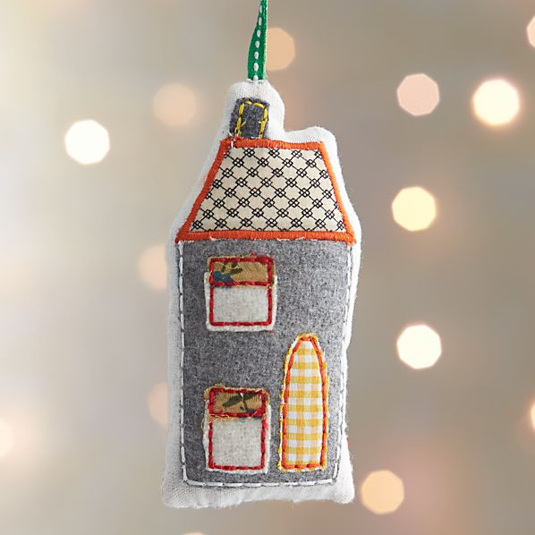Fabric House with Diamond Roof Ornament