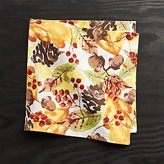 Fall Foliage Dinner Napkin