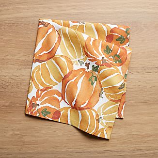 Fall Pumpkin Napkin