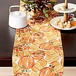 Fall Pumpkin 90  Table Runner