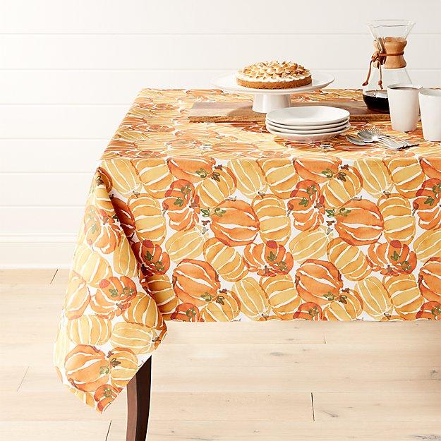 """Fall Pumpkin 54""""x120"""" Tablecloth"""