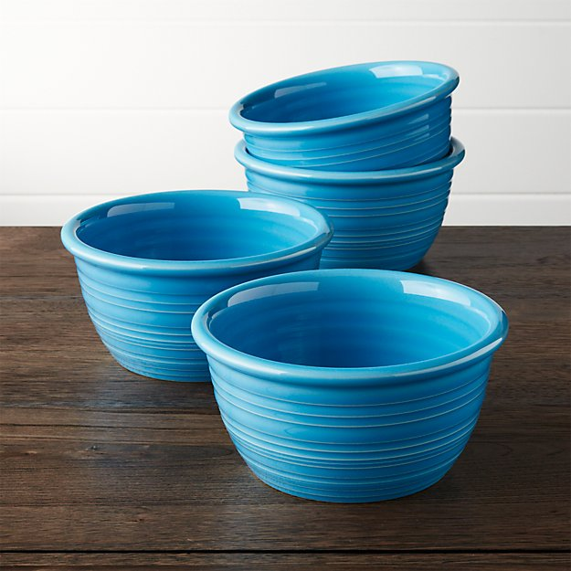 Farmhouse Aqua Cereal Bowl, Set of 4