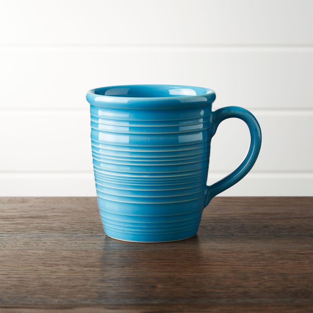 Farmhouse Aqua Mug - Crate and Barrel