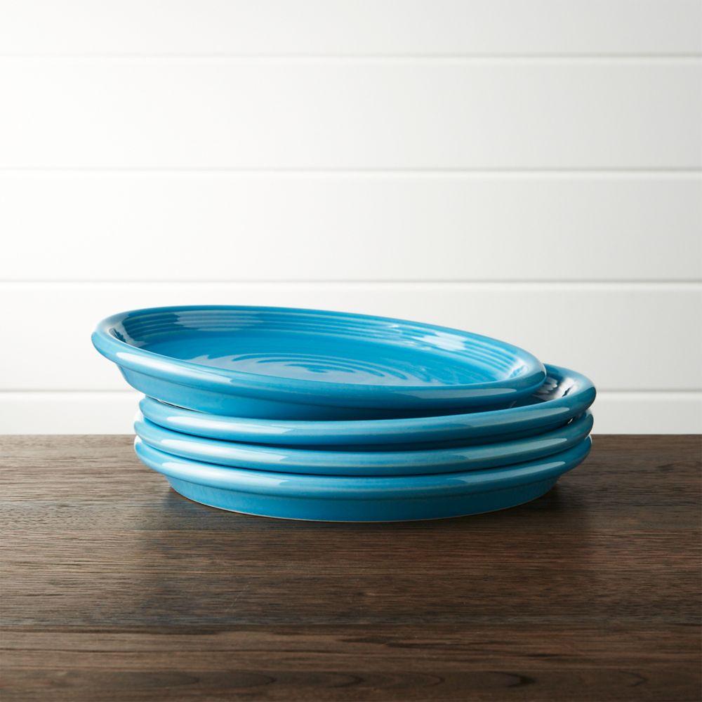 Set of 4 Farmhouse Aqua Salad Plates - Crate and Barrel