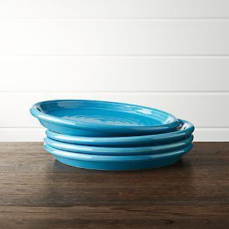 Set of 4 Farmhouse Aqua Salad Plates